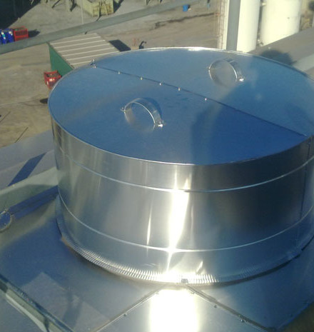 Isolation electrostatic filter roof