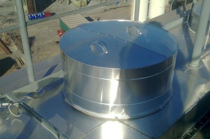 Aislamiento techo electrofiltro